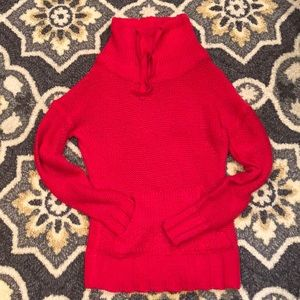 Rue 21 cowl neck drawstring sweater